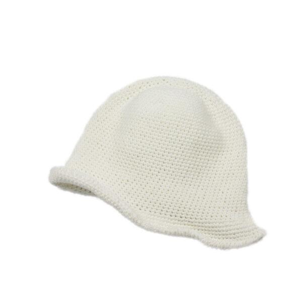 10003333 Sommerhut gehäkelt weiß Mädchen Seacell-Faser Hut
