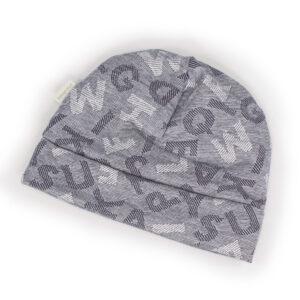 10008090 Beanie Mütze Haube mit Bündchen gefüttert warm Mädchen Buben bio organic Buchstaben blau