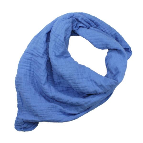 100061111 Musselin Tuch Halstuch Schal Windel Swaddle blush bio organic Baby Mädchen Buben blau