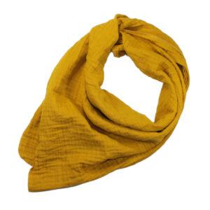 100061171Musselin Tuch Halstuch Schal Windel Swaddle blush bio organic Baby Mädchen Buben senf gelb