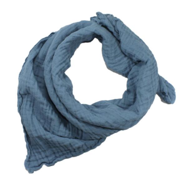 100061210 Musselin Tuch Halstuch Schal Windel Swaddle blush bio organic Baby Mädchen Buben blau
