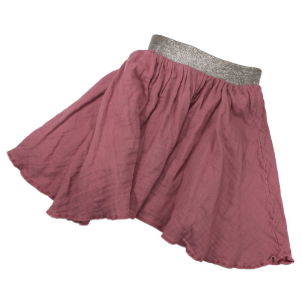 100108170 Rock mit Glitzerbund aus Musselin bio organic Mädchen rosa