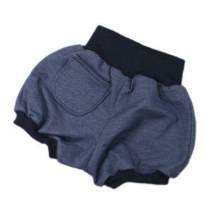 10012337a Short mit Bündchen jeansjersey Bloomershort Ballonshort bio organic dunkelblau jeansblau blau Tasche