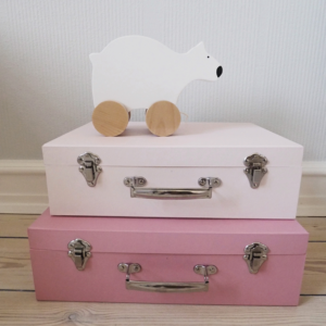 Photo Suitcase pink and polar bear