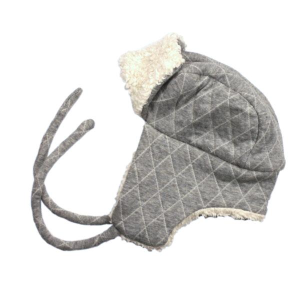 100010106 Lumberjack Hat Mütze warm Plüsch Mädchen Buben grau bio organic