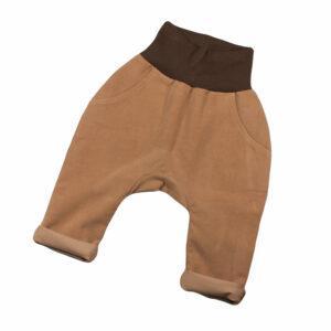 100124217b Hose mit Bündchen Taschen zum Krempeln ocker braun beige Cord bio organic Mitwachshose
