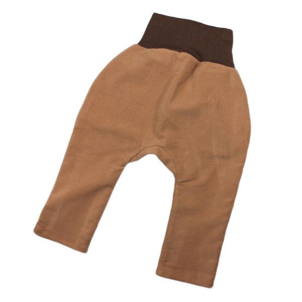 100124217c Hose mit Bündchen Taschen zum Krempeln Cord ocker braun beige bio organic Mitwachshose