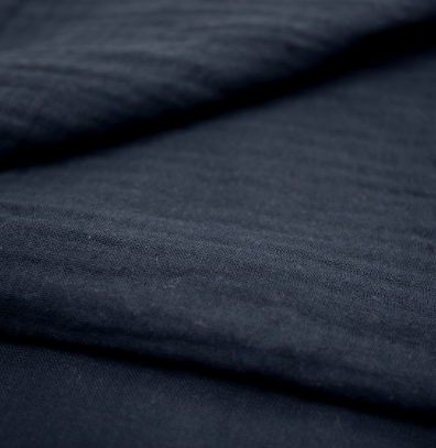 100140 Musselin dunkelblau Kleid Volantkleid Erwachsene bio organic
