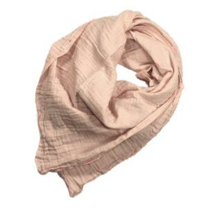 100061200 Musselin Tuch Halstuch Schal Windel Swaddle blush bio organic Baby Mädchen Buben rosa