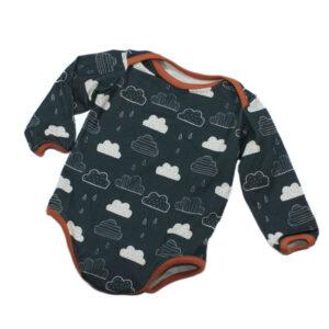 100085134 Body Baby bio organic langarm Wolken rauchblau