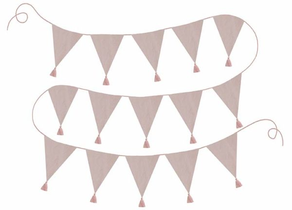 K031 Textile Bunting Pink
