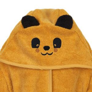 Bademantel Panda Gelb Frottee Morgenmantel