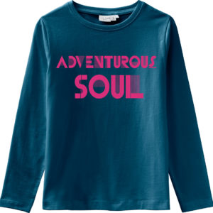 Name It T Shirt Blau Adventurous Soul