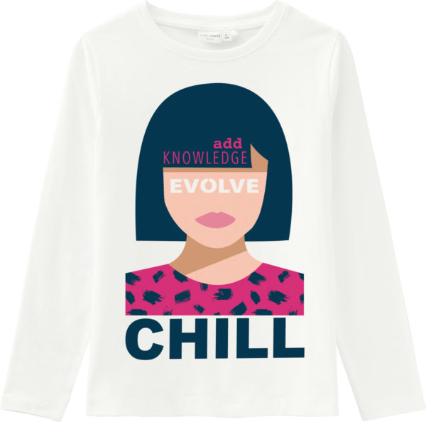 Name It T Shirt Weiß Chill