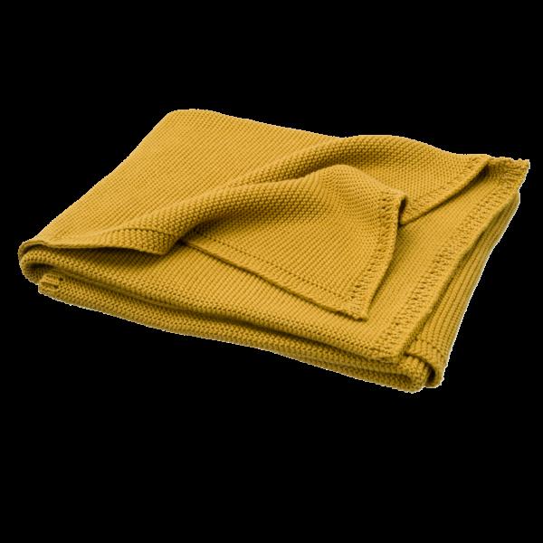 Fresk B200 07 Knitted Blanket Uni Mustard B