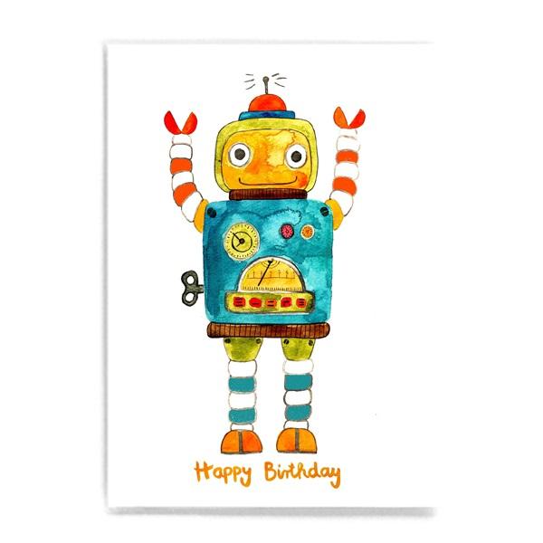 Frau Ottilie Postkarte Happy Birthday Roboter Frau Ottilie Fuer Dreijaehrige Geschenke 989 26064 2