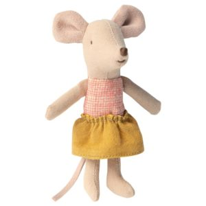 Maileg 16 0722 01 Little Sister Mouse In A Matchbox Kleine Schwester In Zündholzschachtel 2