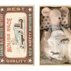 Maileg 16 0723 01 Little Brother Mouse In Matchbox Kleiner Bruder Maus In Zündholzschachtel