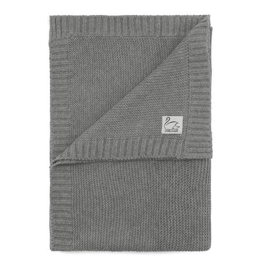 Vanilla Copenhagen Decke Kuschelig Bio Baumwolle Baby Grau Kinderwagen Gestrickt Blanket Grey 540x Proudbaby
