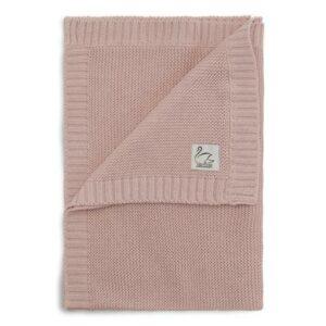 Vanilla Copenhagen Decke Kuschelig Bio Baumwolle Baby Grau Kinderwagen Gestrickt Proudbaby Blanket Rose 540x