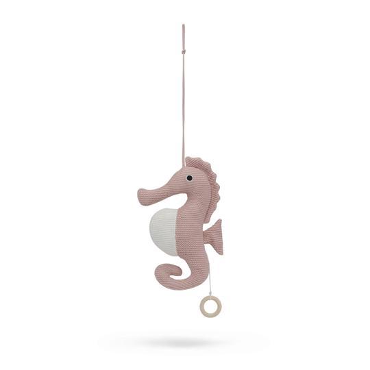 Vanilla Copenhagen Spieluhr Seepferdchen Bio Baumwolle Rosa Baby 009015 4 540x