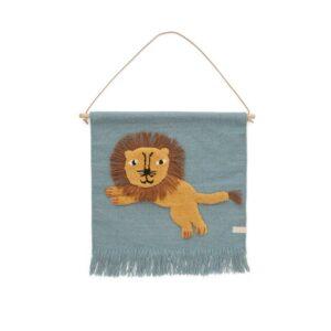Jumping Lion Wallhanger Wallhanger 1100518 605 Tourmaline 1000x5712195009939