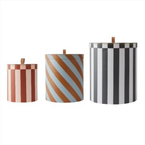Storage Box Round Stripe Set Of 3 Storage M10249 908 Multi 1000x5712195033699
