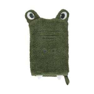 Krokodil Waschhanschuh Grün
