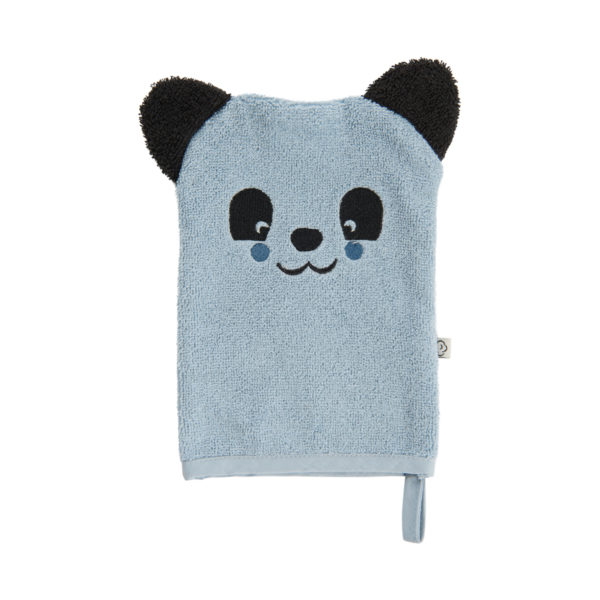 Waschhandschuh Blau Panda