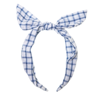 H1542b Picnic Check Tie Headband
