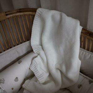 Vanilla Copenhagen Decke Strickdecke Babydecke Ivory 5710098541518 Proudbaby 1