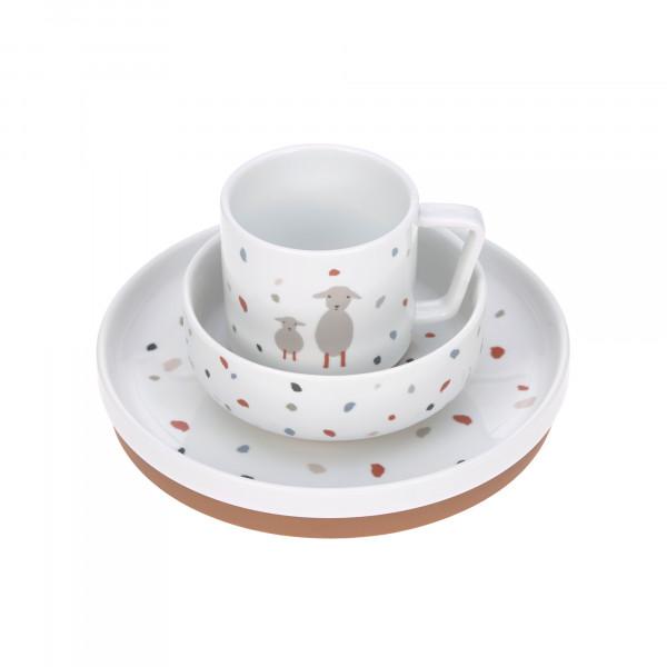 Lässig Kindergeschirr Set Porzellan Tiny Farmers Gans Schaf Teller Schüssel Tasse 1210037841 Proudbaby 1