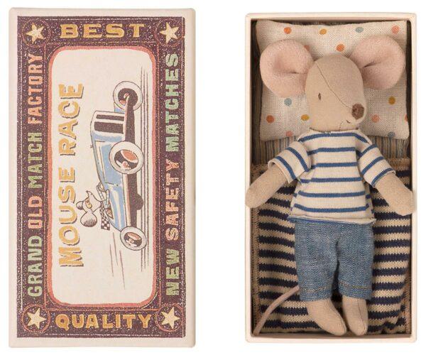 Maileg Big Brother Mouse In Matchbox Großer Bruder Maus In Streichholzschachtel 16 1733 01 Proudbaby 1