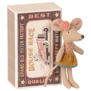 Maileg Big Little Sister Mouse In Matchbox Kleine Schwester Maus In Streichholzschachtel 16 1726 01 Proudbaby