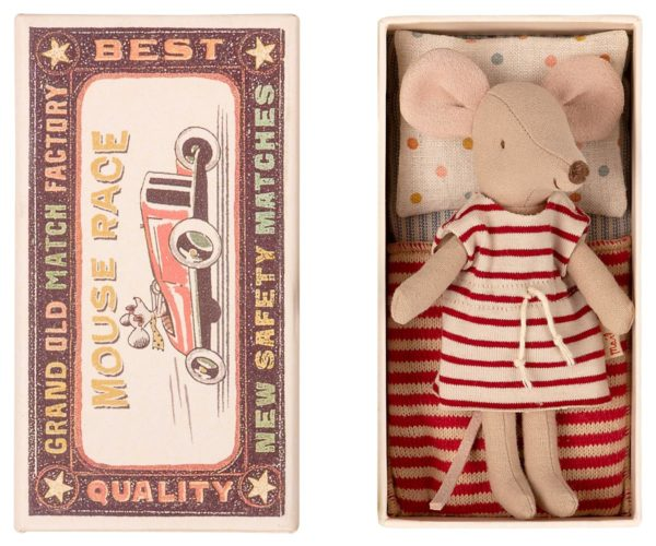 Maileg Big Sister Mouse In Matchbox Große Schwester Maus In Streichholzschachtel 16 1734 01 Proudbaby 2