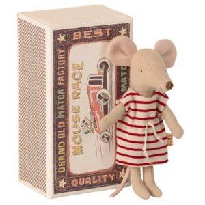 Maileg Big Sister Mouse In Matchbox Große Schwester Maus In Streichholzschachtel 16 1734 01 Proudbaby