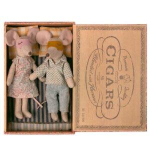 Maileg Mum And Dad Mice Cigar Box Mutter Vater Zigarettenschachtel Mäuse Maus 16 1740 01 Proudbaby