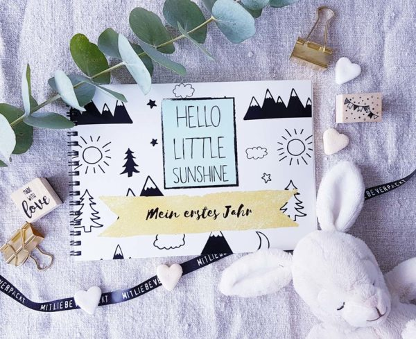 Schatzls Schatzkisterl Babybuch My Little Sunshine Proudbaby