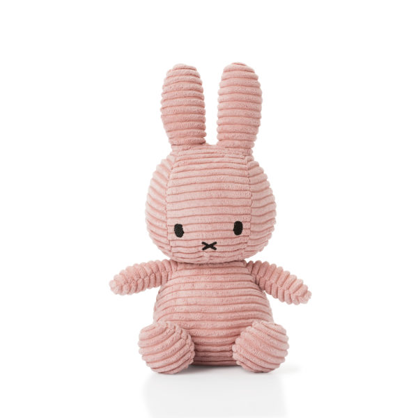 8719066003819 1 24182208 Miffy Sitting Corduroy Pink 23 Cm Stofftier Hase Proudbaby