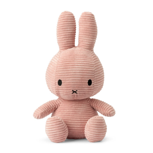 8719066003826 1 24182209 Miffy Sitting Corduroy Pink 33 Cm Stofftier Hase Proudbaby