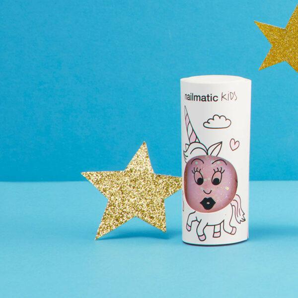 Polly Clear Pink Glitter Nail Polish (1)