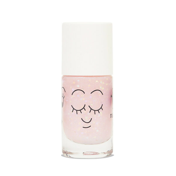 Polly Clear Pink Glitter Nail Polish (2)