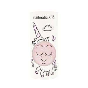 Polly Clear Pink Glitter Nail Polish