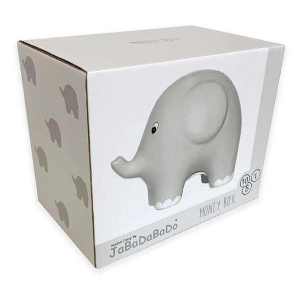 Jabadabado Elephant Money Box Grey Spardose Proudbaby G10044 7332599100445 1