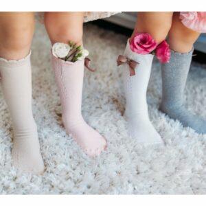 33982 4 Mama S Feet Detske Podkolenky Knee Highs Ladies Stephanie Bile A Sed