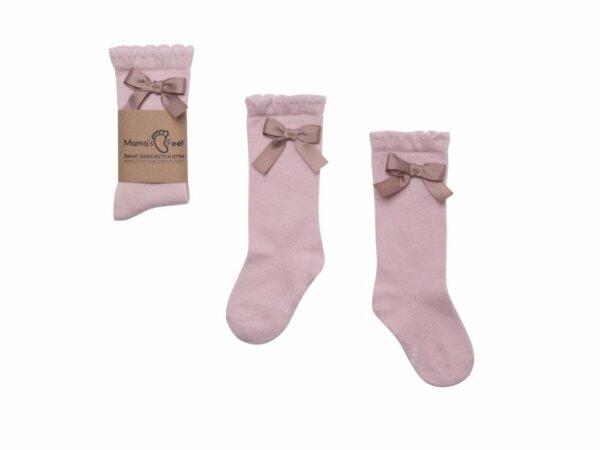33982 Mama S Feet Detske Podkolenky Knee Highs Ladies Florence Ruzove