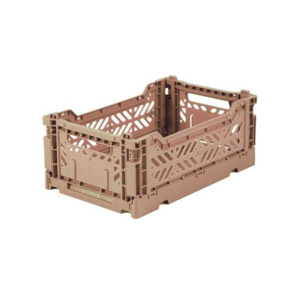 Aykasa Faltkiste Klappkiste Aufbewahrung Storage Sortieren Mini Warm Taupe