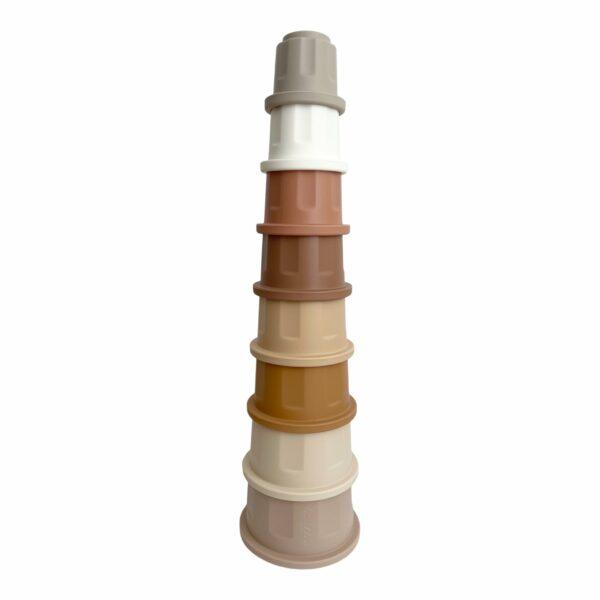 Leo Et Lea Cup Stacker Stapelturm Becher Silikon Nude