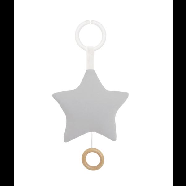 N0121 7332599001216 Spieluhr Stern Grau Jabadabado