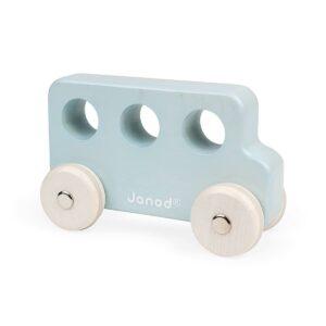 Janod Cocoon Holz Greifling Bus Blau 3700217344139 J04413